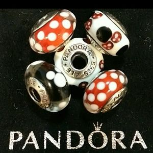 Pandora's Mickey & Minnie Murano Set of 5